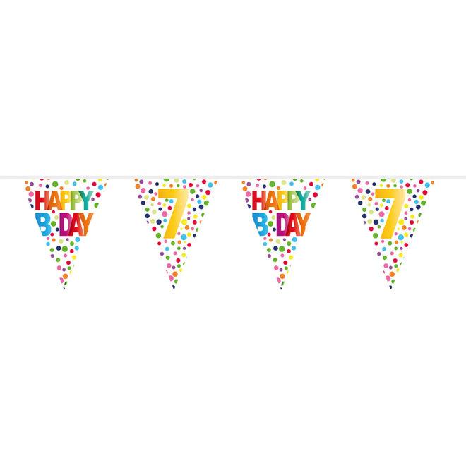 Vlaggenlijn 7 Jaar Happy Birthday (10M)