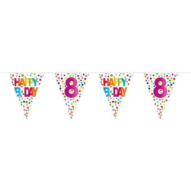 Vlaggenlijn 8 Jaar Happy Birthday (10M)