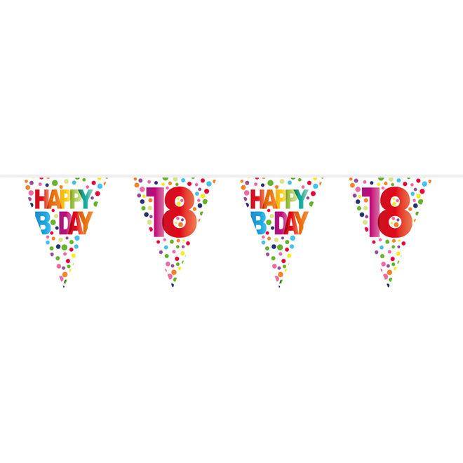 Vlaggenlijn 18 Jaar Happy Birthday (10M)