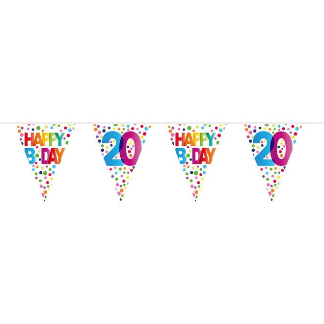 Vlaggenlijn 20 Jaar Happy Birthday (10M)