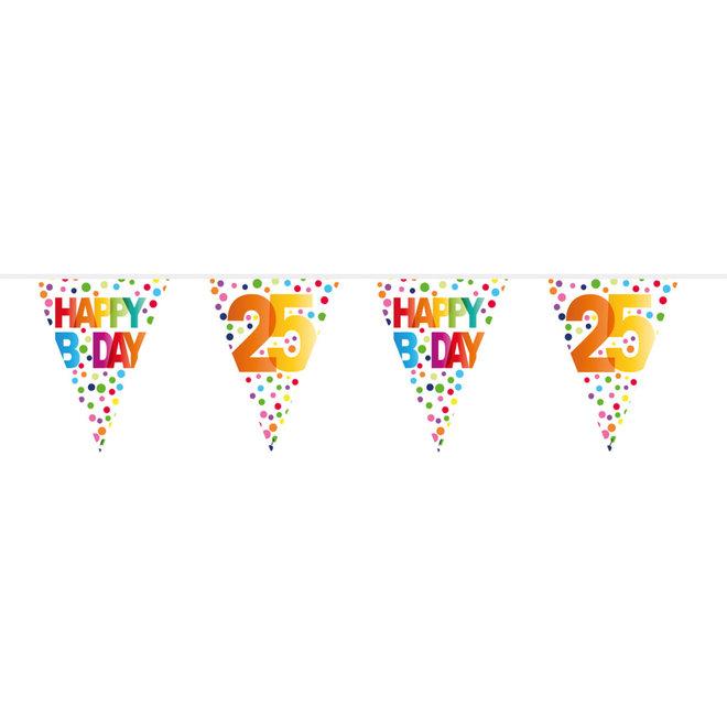 Vlaggenlijn 25 Jaar Happy Birthday (10M)