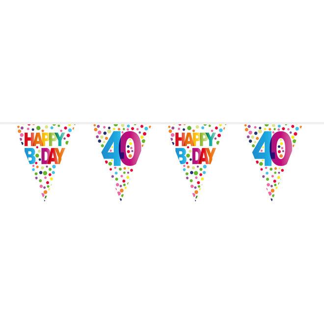 Vlaggenlijn 40 Jaar Happy Birthday (10M)