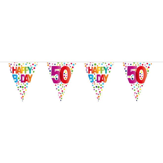 Vlaggenlijn 50 Jaar Happy Birthday (10M)