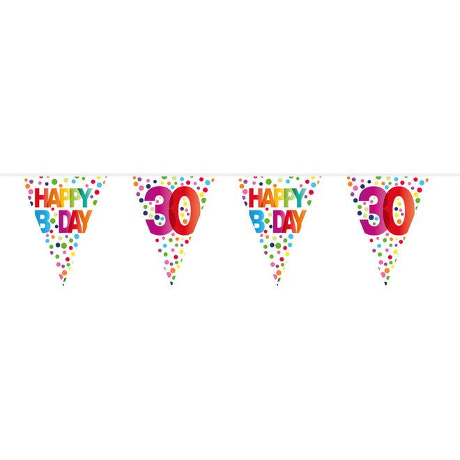 Vlaggenlijn 30 Jaar Happy Birthday (10M)
