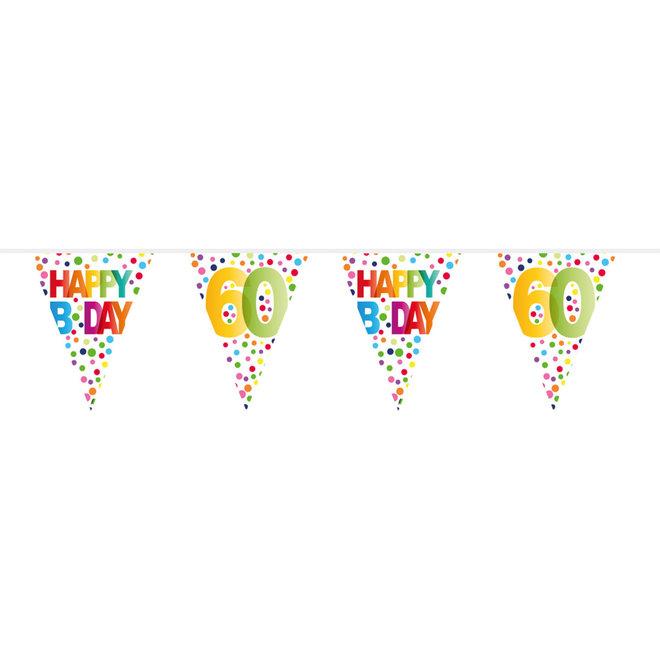 Vlaggenlijn 60 Jaar Happy Birthday (10M)