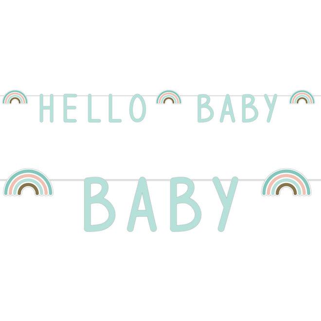 Letterslinger Rainbow Hello Baby Mint 1.4M