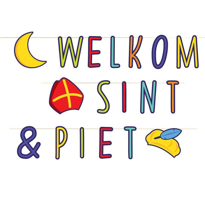 Letterslinger Welkom Sint & Piet 2.8M (NIEUW)