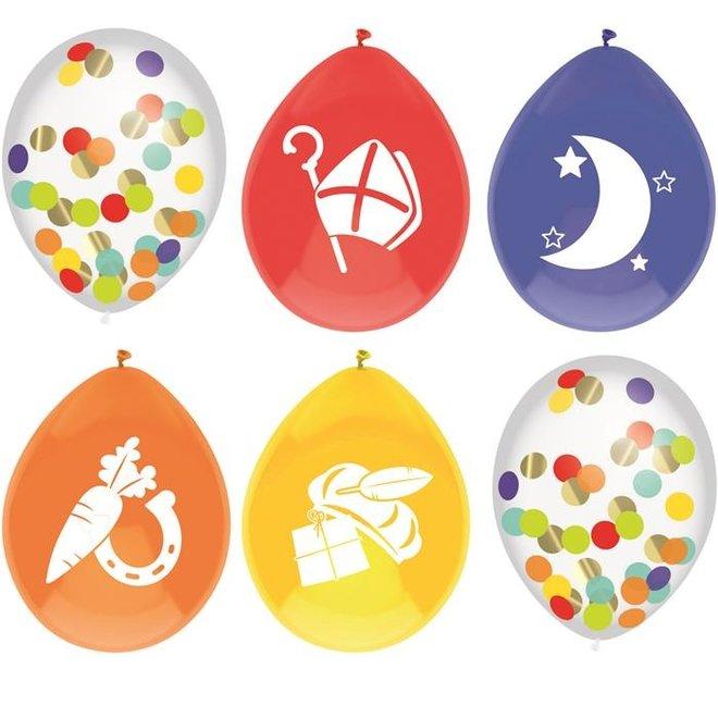 Confetti Ballonnen Sinterklaas (6ST) (NIEUW)