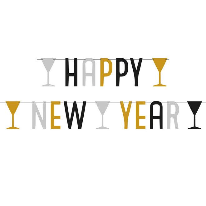 "Letterslinger ""Happy New Year"" Metallic 1.65M"