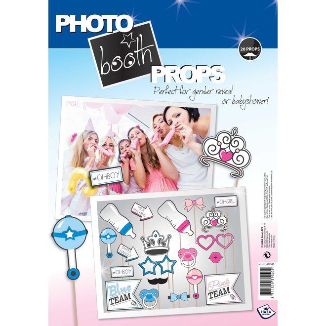Foto Props Gender Reveal Blue or Pink 20ST