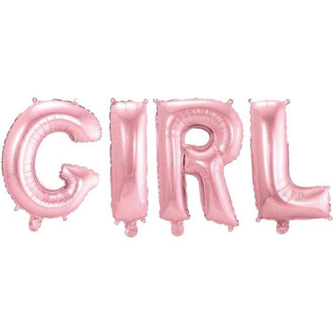 Folie Ballon Girl Baby Roze 36CM