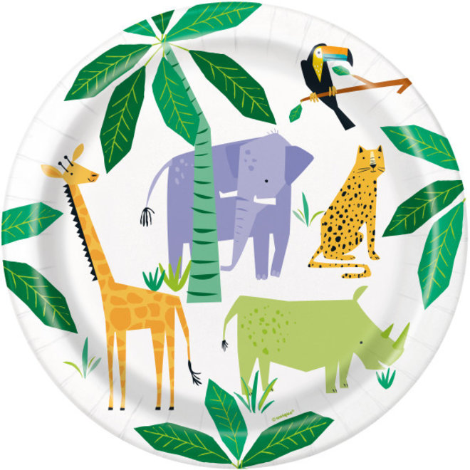 Bordjes Animal Safari 23CM (8ST)