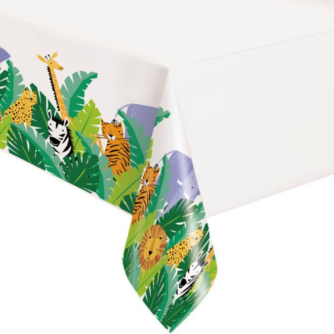 Plastic Tafelkleed Animal Safari 140cm x 214cm (1ST)