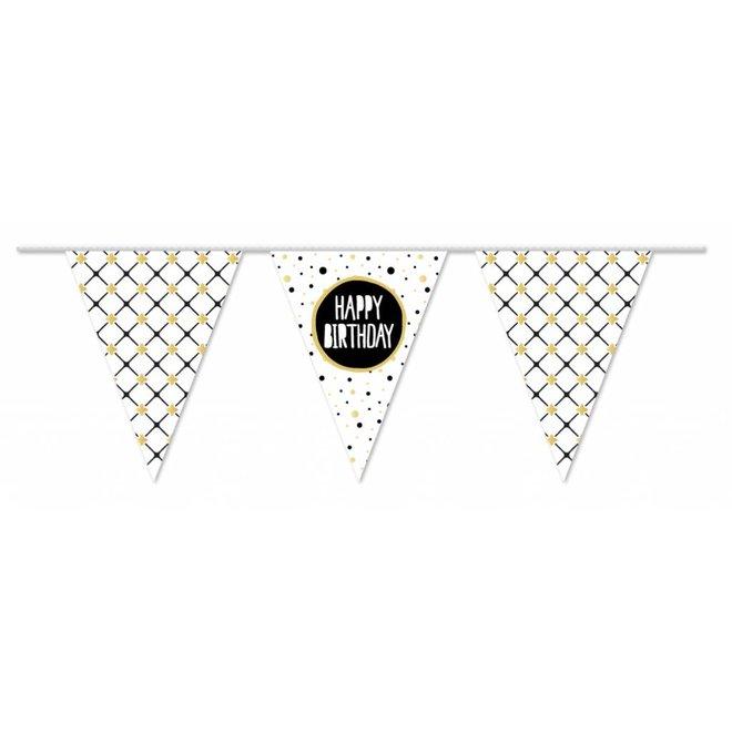 Vlaggenlijn Festive Gold Happy Birthday 10M