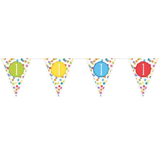 Papieren Vlaggenlijn Festive Colors 1 Jaar (6M)