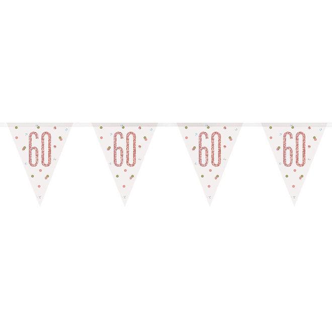 Vlaggenlijn 60 Jaar Rosé Goud & Wit 2.75M