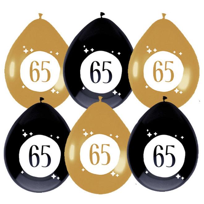 Ballonnen Festive Gold 65 Jaar 30CM (6ST)