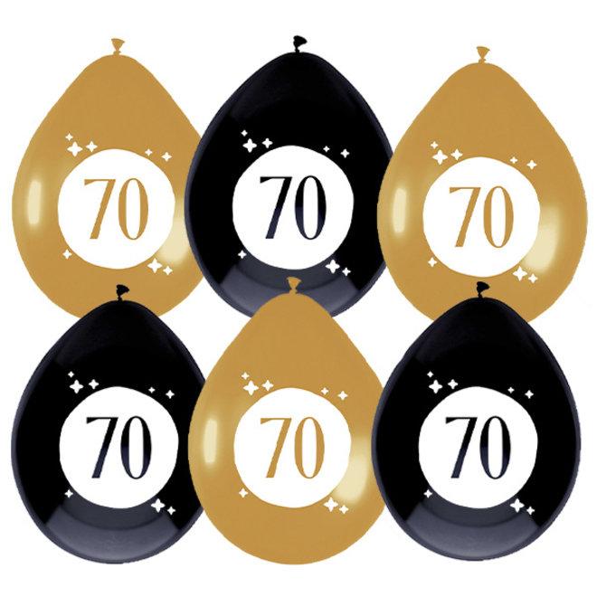 Ballonnen Festive Gold 70 Jaar 30CM (6ST)