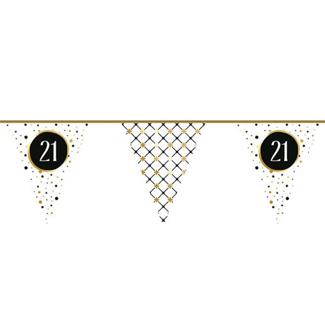 Vlaggenlijn Festive Gold 21 Jaar 6M