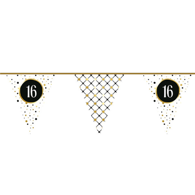 Vlaggenlijn Festive Gold 16 Jaar 6M