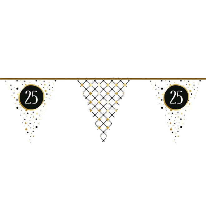 Vlaggenlijn Festive Gold 25 Jaar 6M