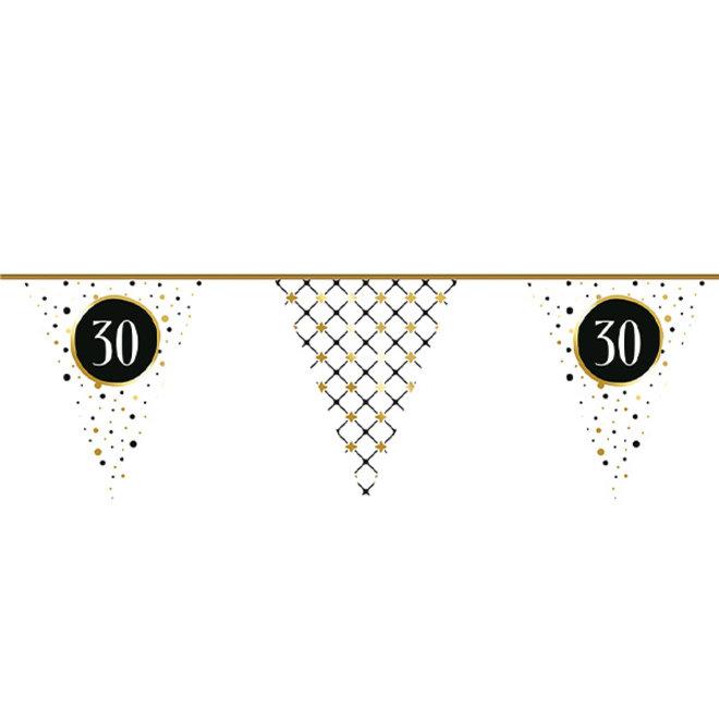 Vlaggenlijn Festive Gold 30 Jaar 6M