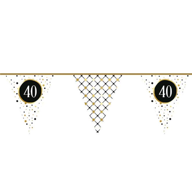 Vlaggenlijn Festive Gold 40 Jaar 6M