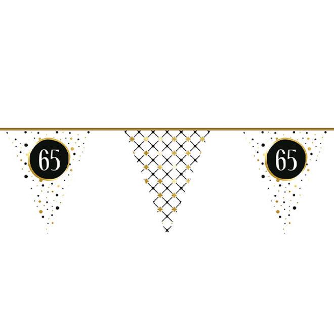 Vlaggenlijn Festive Gold 65 Jaar 6M