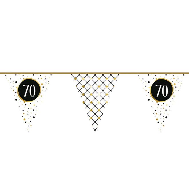 Vlaggenlijn Festive Gold 70 Jaar 6M