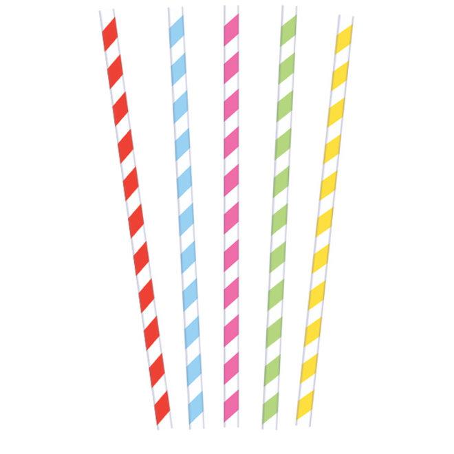 Papieren Rietjes Multicolor 20ST