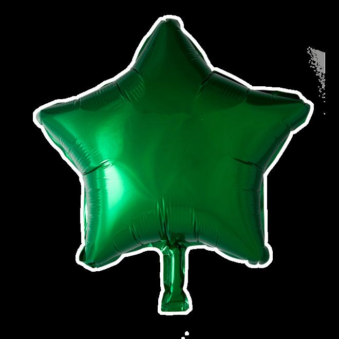 Folie Ballon Ster Groen 45CM (Leeg)