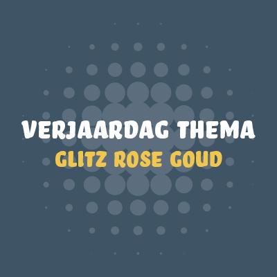 Glitz Rosé Goud & Wit