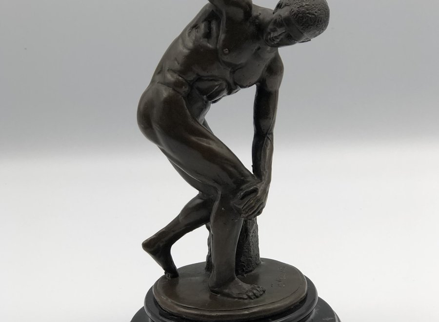Bronze sculpture after the antique on a marble base