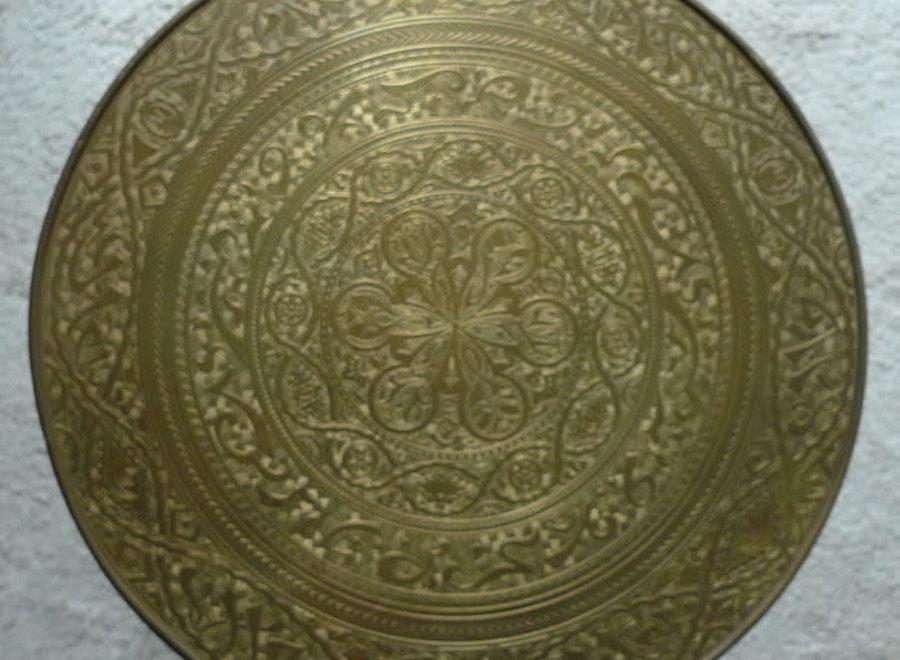 Rooktafel met koperen blad - Ca 1930