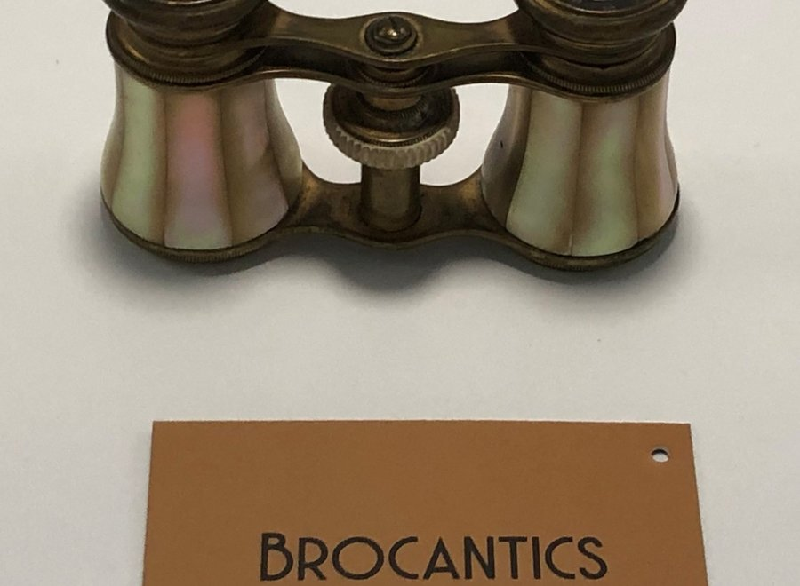 French theater binoculars - Ca 1920 - Brass / Mother of Pearl