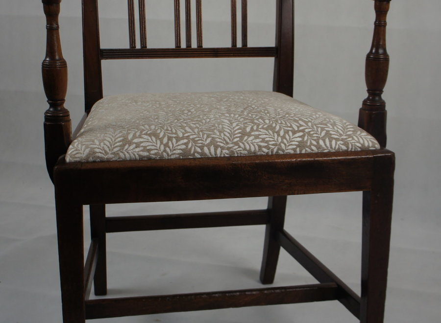 Set of 2 dining room chairs with backrest - early 19 ° Century