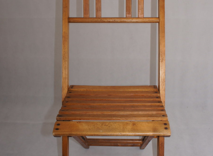 Folding chair from France - 2 ° half 20 ° Century