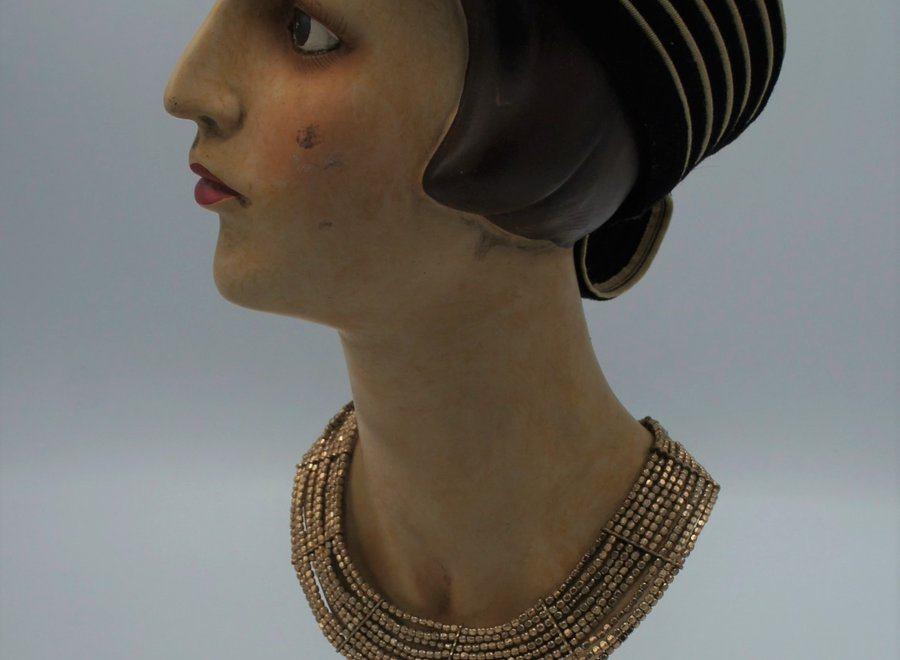 """Mannequin """"La Parisienne"""" matching hat and necklace included"""