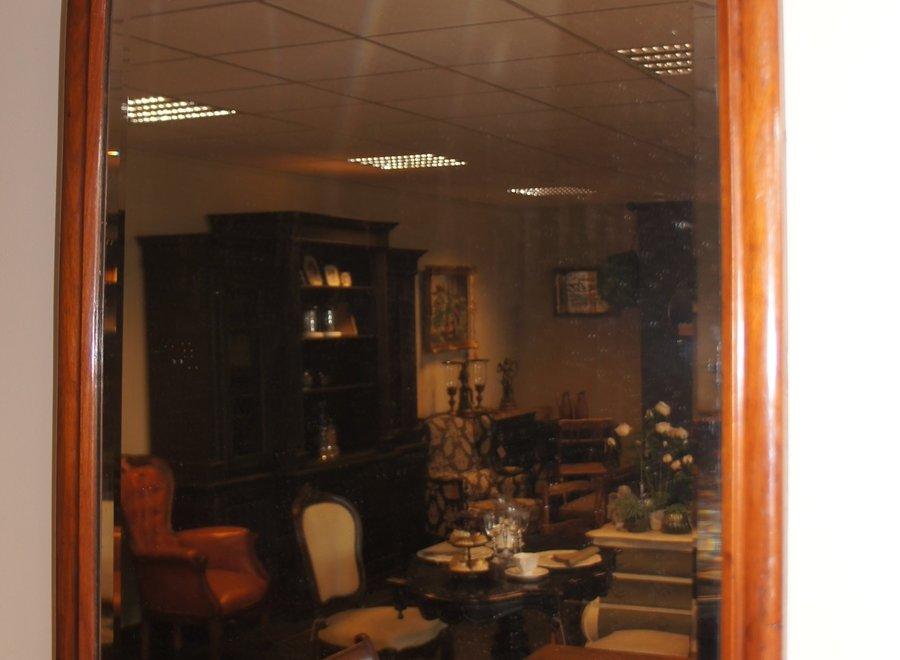 Elegante, antieke mahonie kader met geslepen spiegel