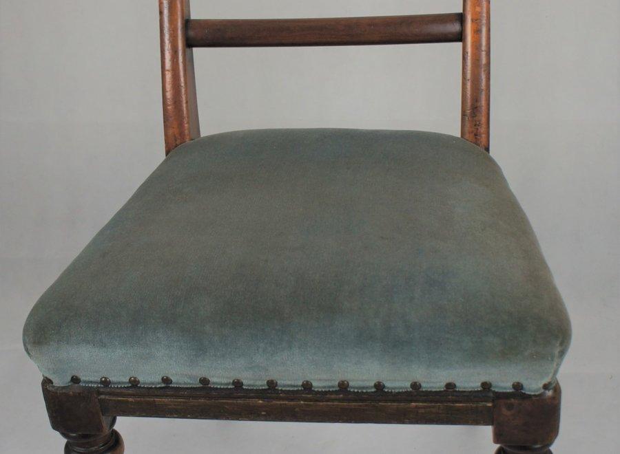 Eenvoudige, zware Victoriaanse stoel - Ca 1860