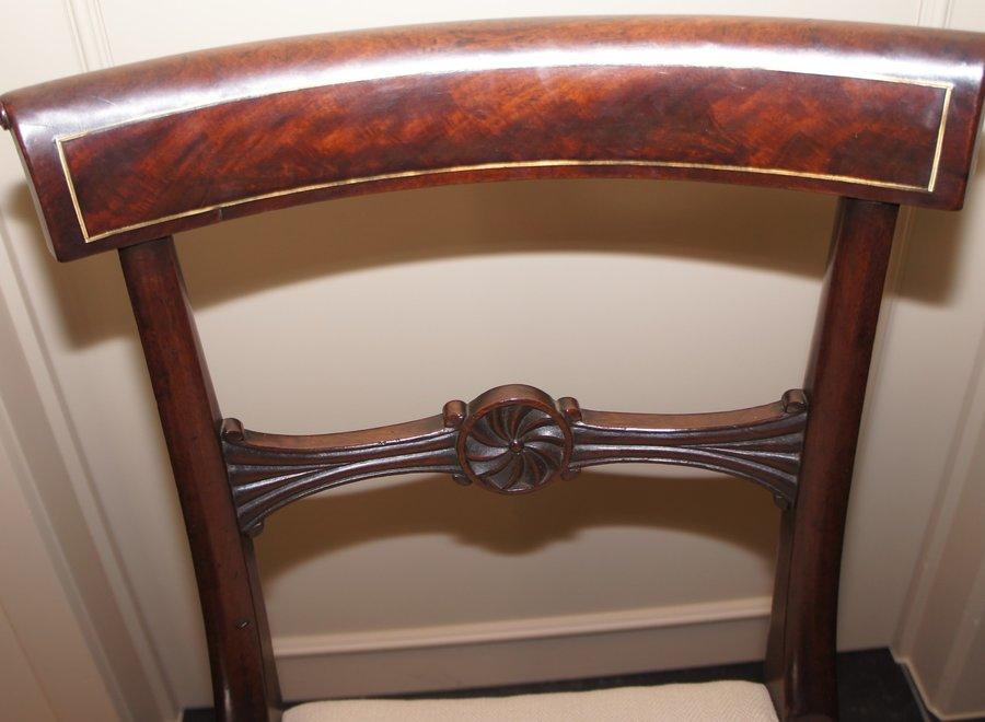 4 mahogany dining room chairs - UK - Ca 1820