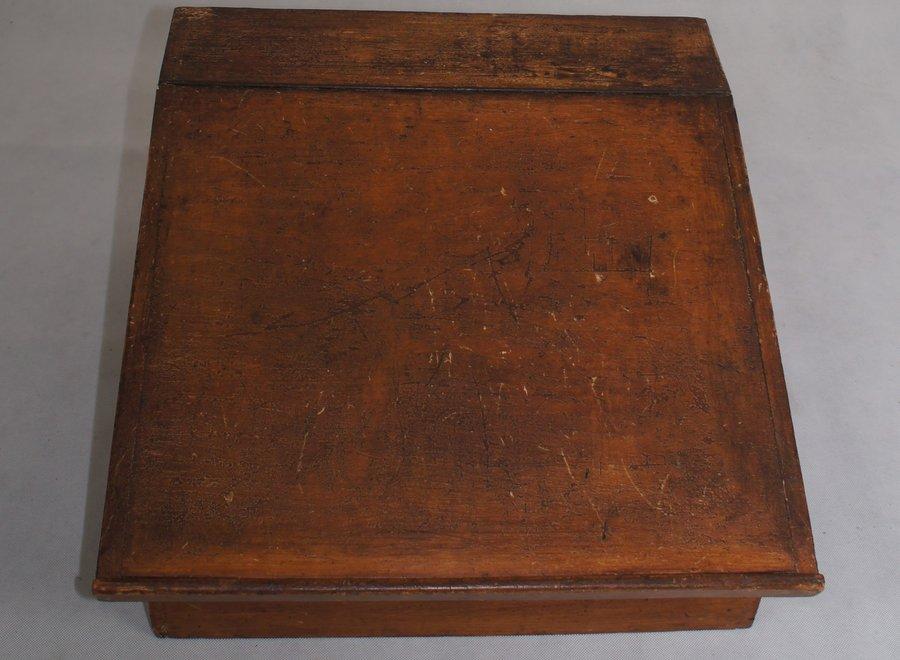 Writing case / desk - oak - 19 ° Century