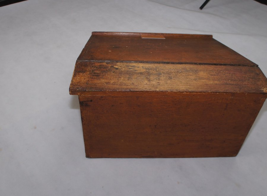 Solid oak writing case with beautiful patina