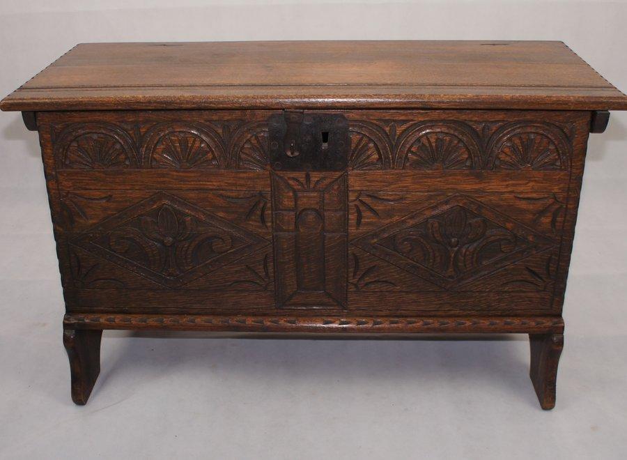 Solid, dark oak chest
