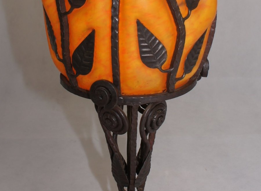 "Franch Art Glass Lamp - signed ""Degué"" - Early 20 ° Century"
