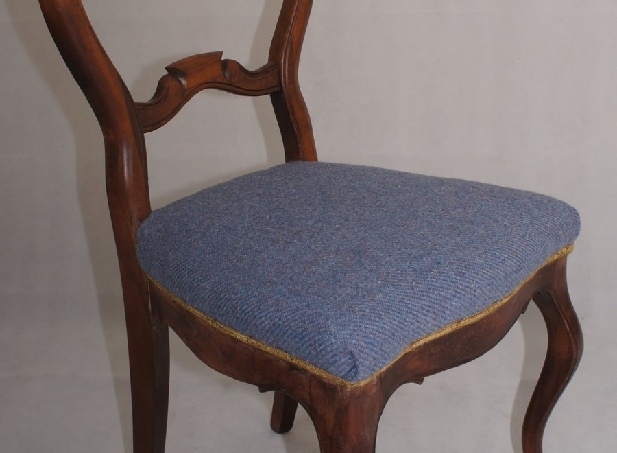 Mahogany dining room chair - 2 ° half 19 ° Century