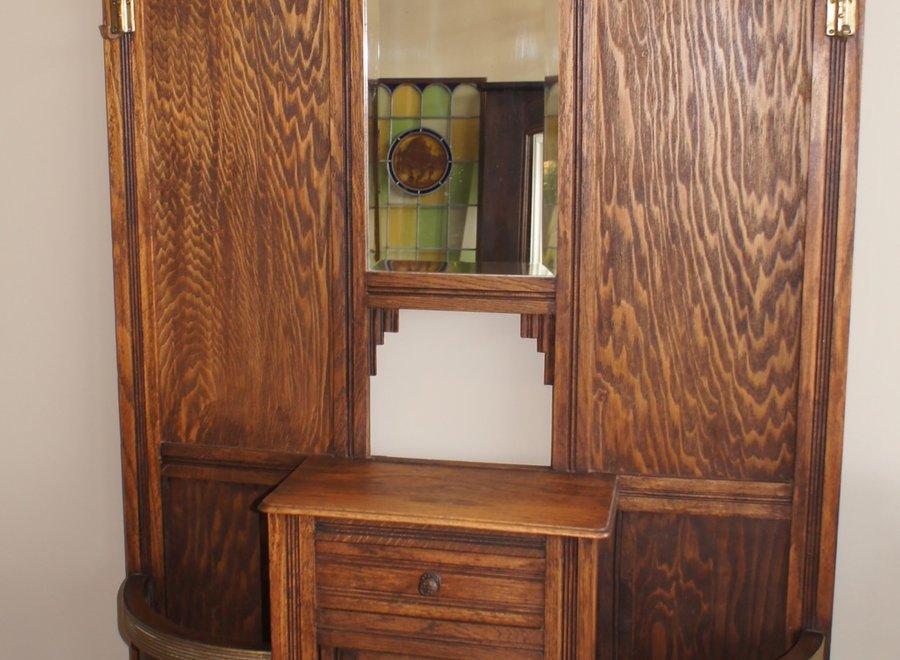 Art nouveau hall cabinet