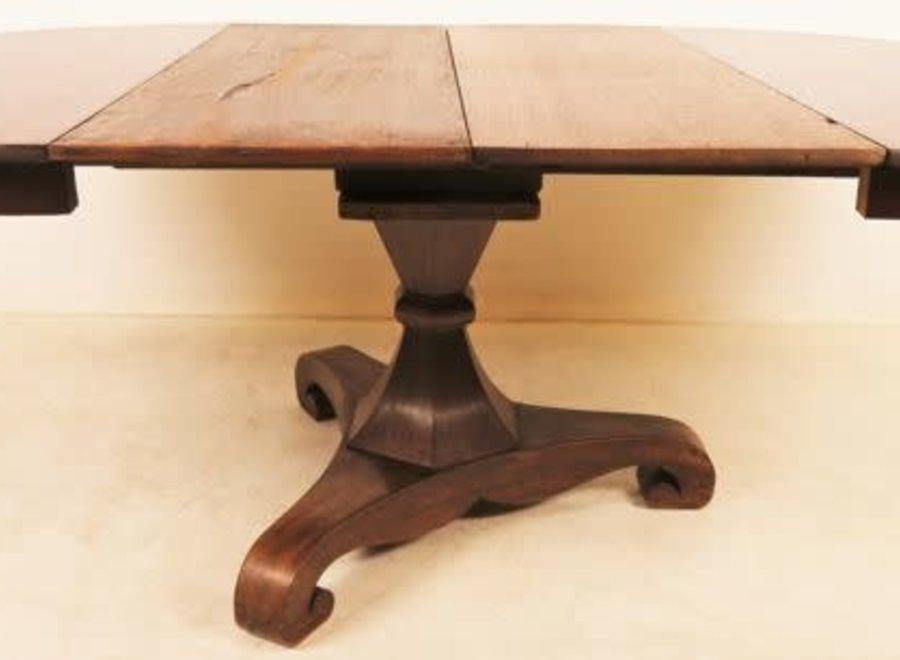 Round Dutch table - Oak, Mahogany - Ca. 1840