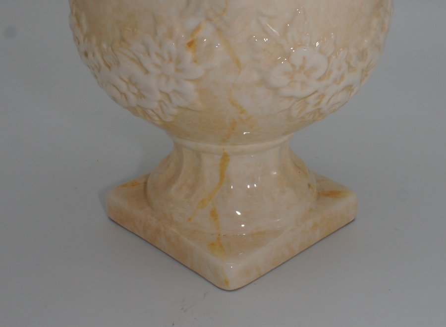 Hand-painted and varnished pot