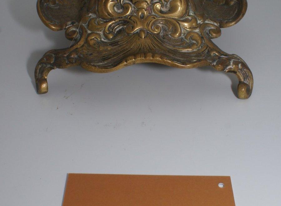 Art nouveau inktstel - brons/glas